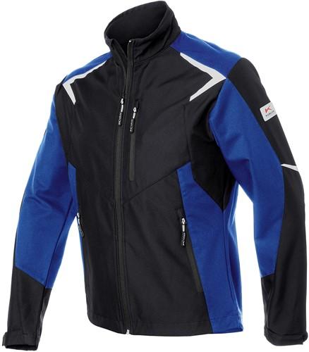 Kübler Bodyforce Softshell Werkjas Zwart/Blauw