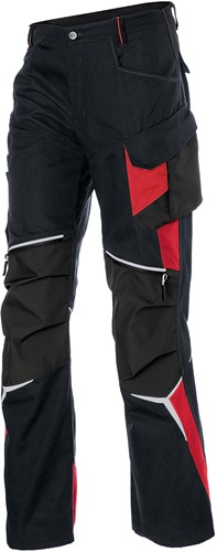 Kübler Bodyforce Werkbroek High Zwart/Rood