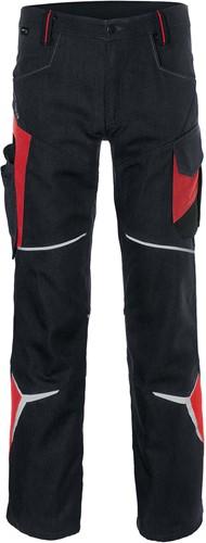 Kübler Bodyforce Werkbroek Zwart/Rood