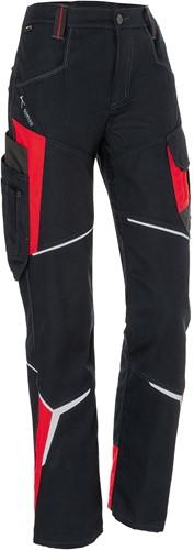 Kübler Bodyforce Dames Werkbroek Zwart/Rood