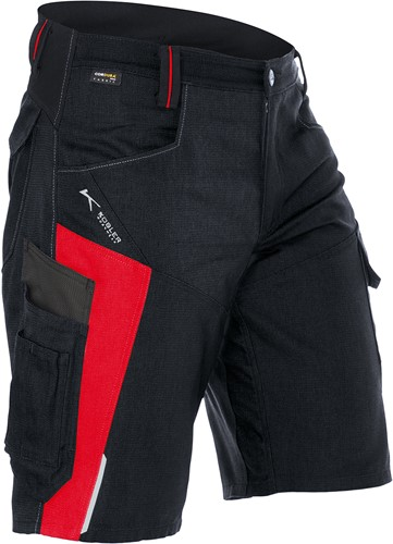 Kübler Bodyforce Short Zwart/Rood