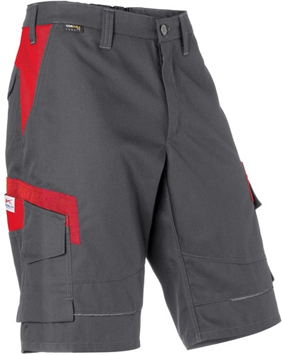 KÜBLER Innovatiq Shorts - Antraciet/Rood - 44