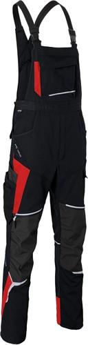 Kübler Bodyforce Amerikaanse Overall Zwart/Rood