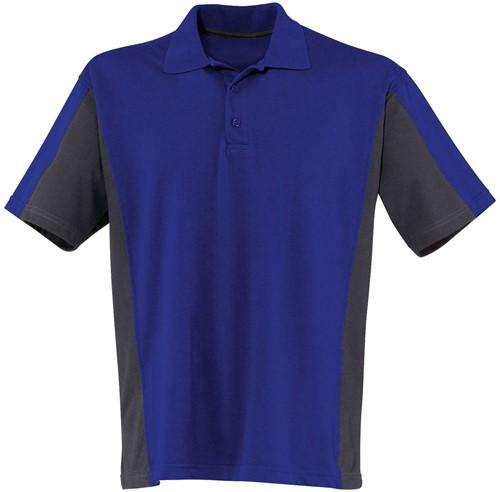 KÜBLER Poloshirt- Antraciet/Blauw - XS