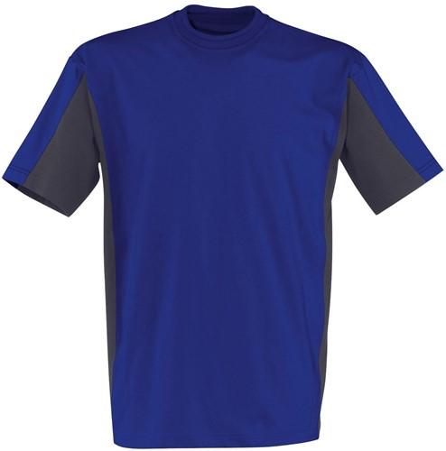 KÜBLER T-shirt - Antraciet/Blauw - XS