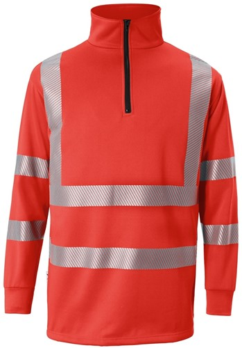 KÜBLER Reflectiq Zip-sweater - Rood - XS