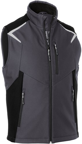 Kübler Bodyforce Softshell Bodywarmer Antraciet/Zwart