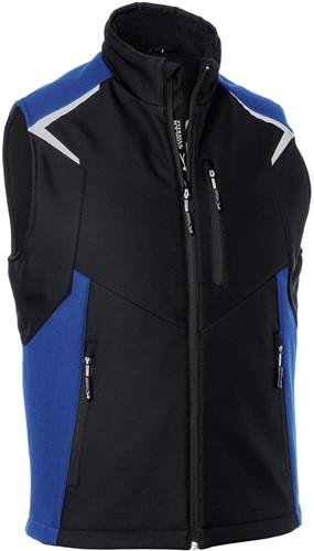 Kübler Bodyforce Softshell Bodywarmer Zwart/Blauw