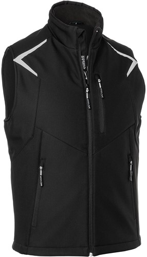 Kübler Bodyforce Softshell Bodywarmer Zwart